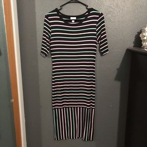 LuLaRoe Black Striped Dress